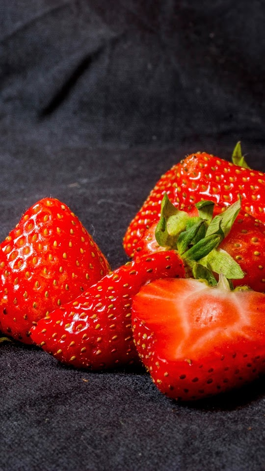 Strawberry With Black Background Galaxy Note HD Wallpaper