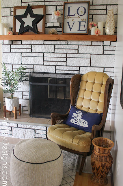 How to paint a stone fireplace!