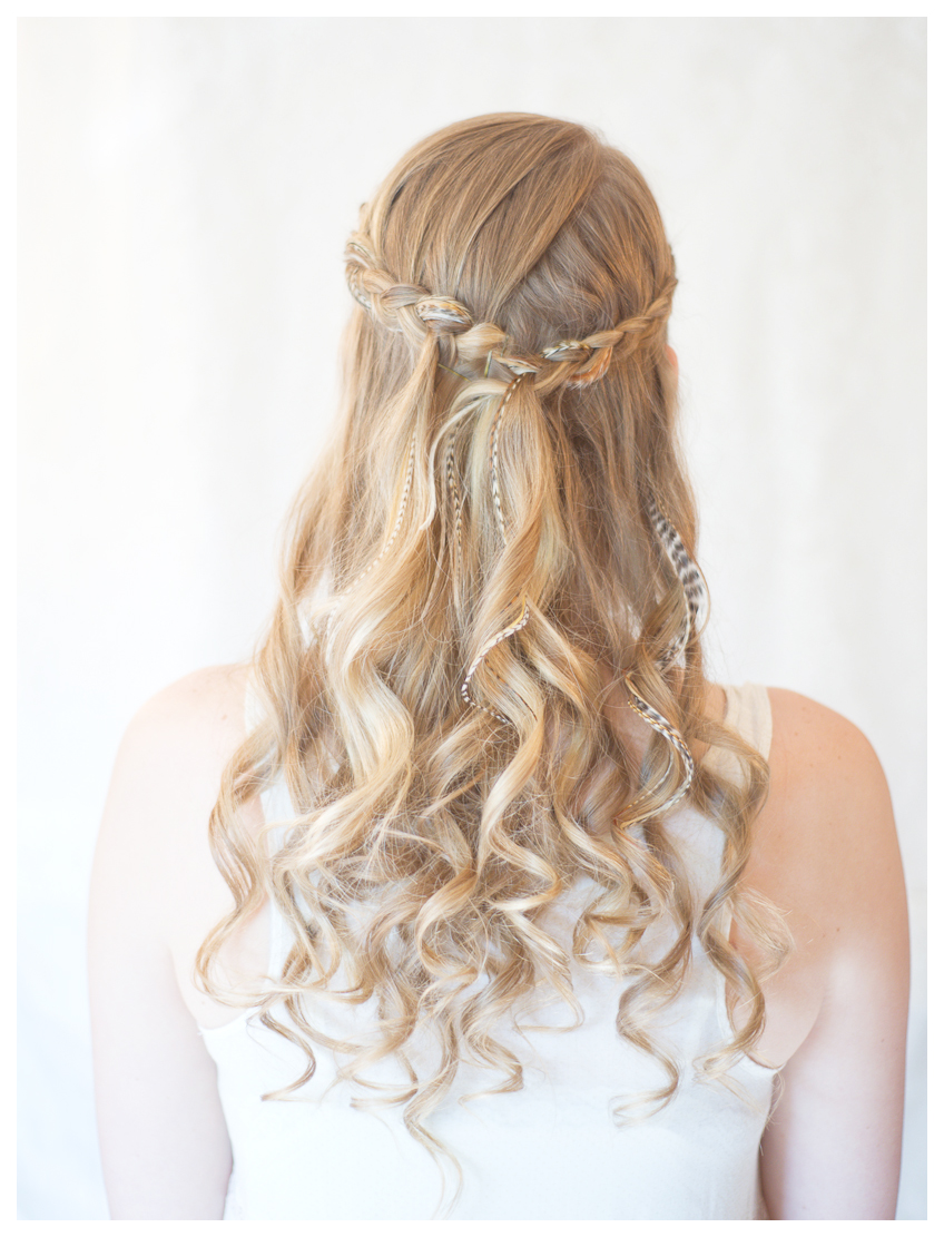 hairstyles tips and tutorial: make inside-out half up braid
