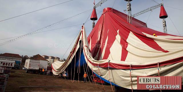 un système de câble permet que les bâches de la tente ne touche pas le sol