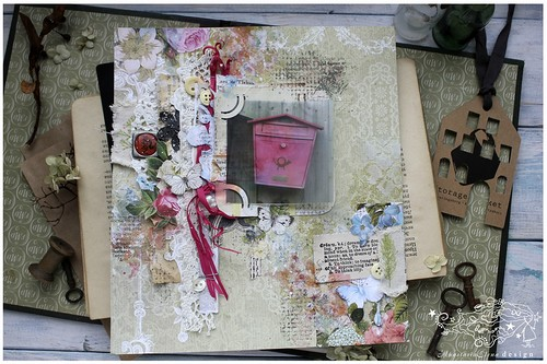 My layout for BlueFernStudios April Sketch Challenge was featured/ April 2016