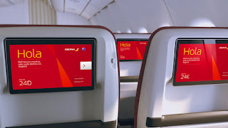 Seatbacks will feature 12-inch HD screens on Iberia's Premium Economy