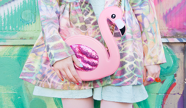Skinny Dip London, flamingo bag, novelty purse