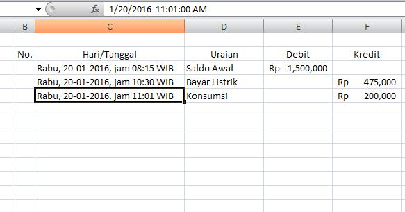 Cara Membuat Tabel Saldo Berjalan Dengan Excel
