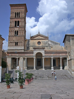 Terracina's Duomo in Piazza del Municipio