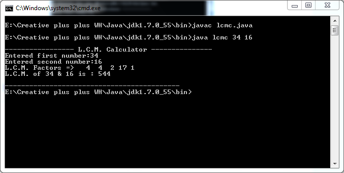 write a program to find hcf of two numbers in java