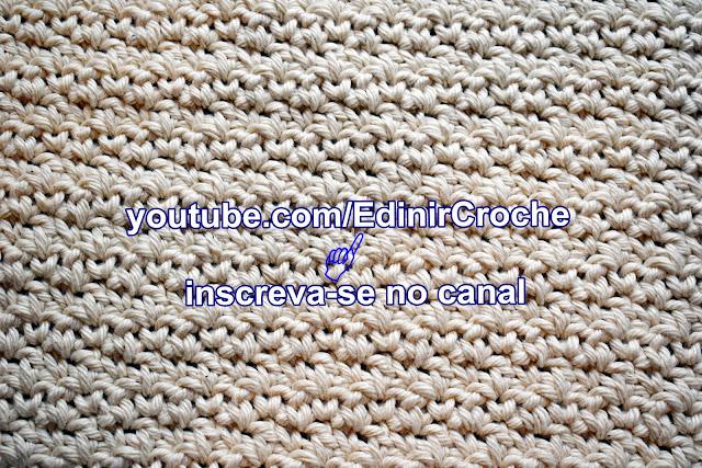 Edinir Croche ensina quadrado em crochê textura Curso de Croche Aprender Croche