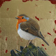 Two small songbird paintings