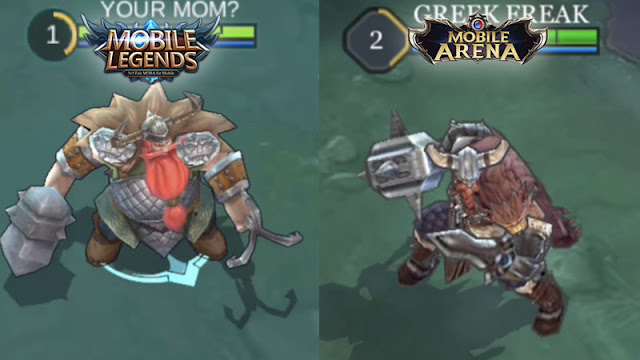 grafik Mobile Legends vs Mobile Arena