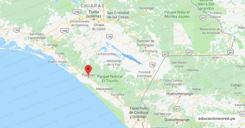 Temblor en México de Magnitud 4.2 (Hoy Lunes 7 Enero 2019) Sismo Terremoto Epicentro - Pijijiapan - Chiapas - www.ssn.unam.mx