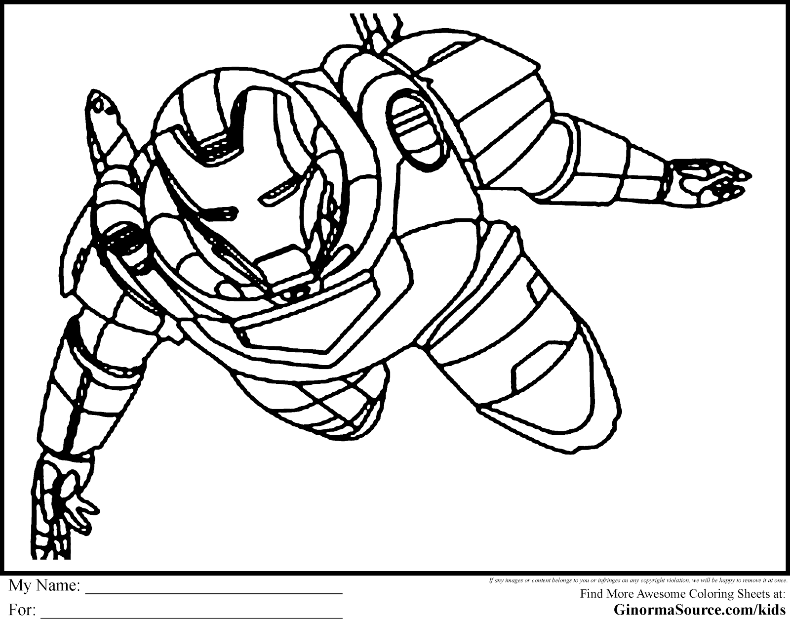 Download Avenger Coloring Pages