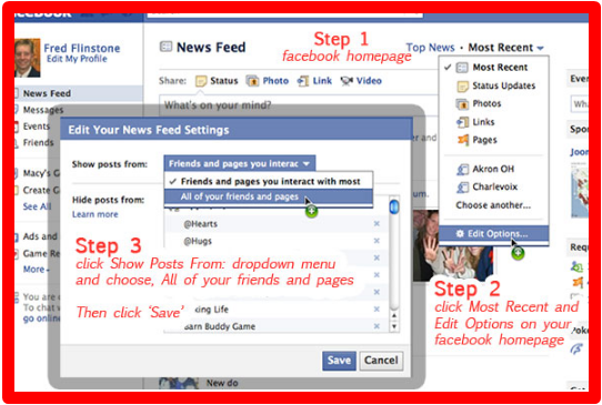 News Feed Facebook Settings