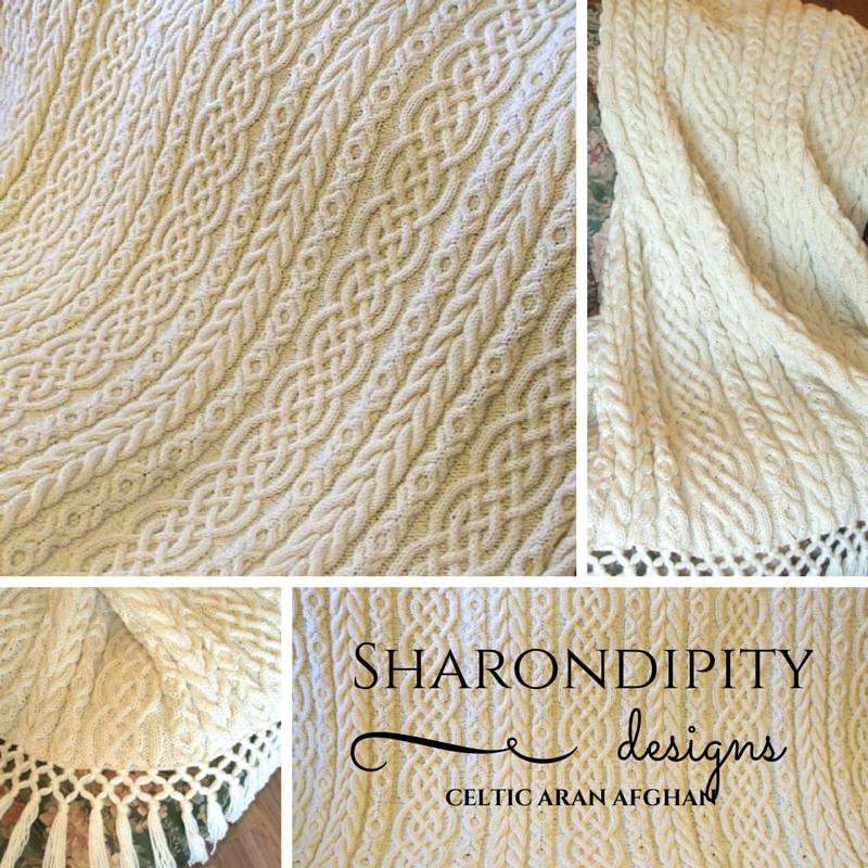celtic, aran afghan, knit, pattern, sharondiptiy, designs