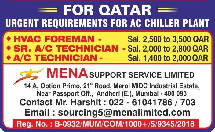 AC Chiller Plant Requirement for Qatar