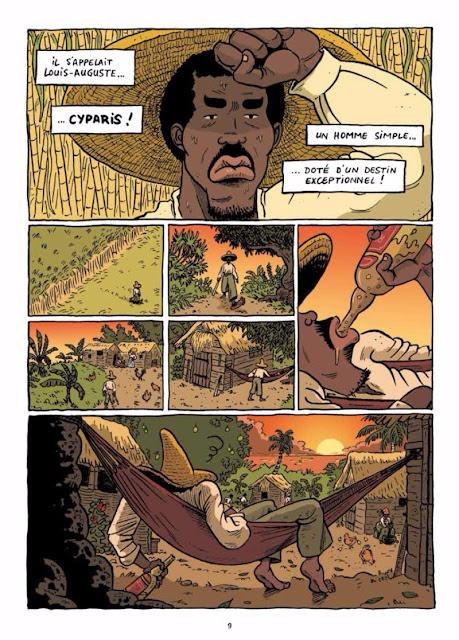 page de Cyparis de Lucas Vallerie chez La Boîte à bulles