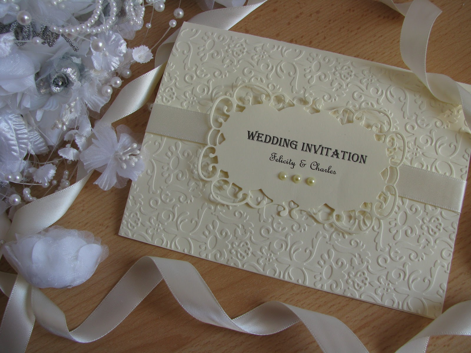 Wedding Invitation Card Handmade: Personalised Vintage Wedding Invitation / Stationery Set