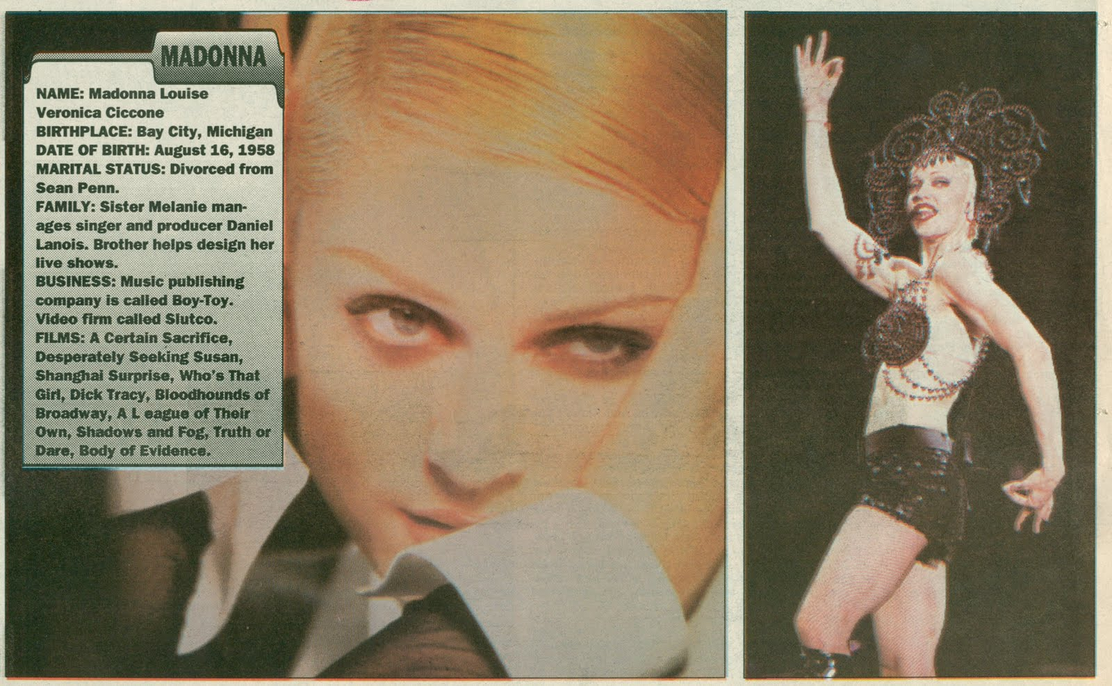 Pud Whacker's Madonna Scrapbook: Girlie Talk: The Life and Times of