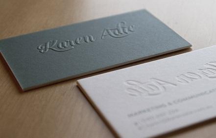 Một mẫu card visit cá nhân đẹp dập nổi cho người tham vọng
