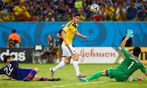 World Cup 2014 chứng kiến một James Rodriguez bừng sáng