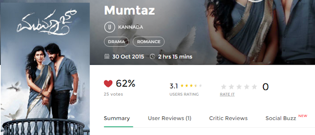 Mumtaz (2015) Full Kannada Movie 700Mb 300mb Free
