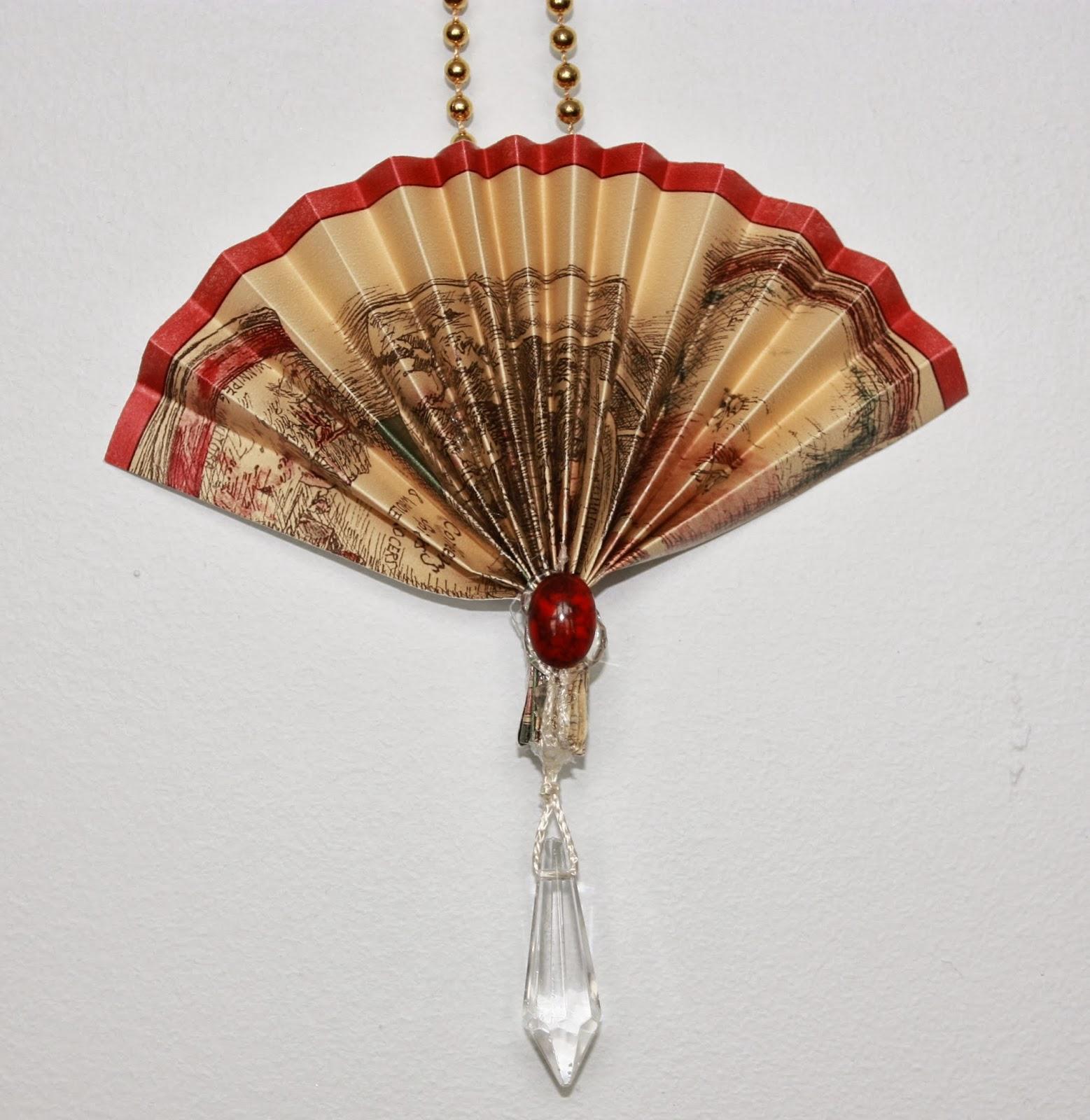 Victorian Christmas Decorations: Artsybuildinglady: Victorian Fan Christmas Ornaments