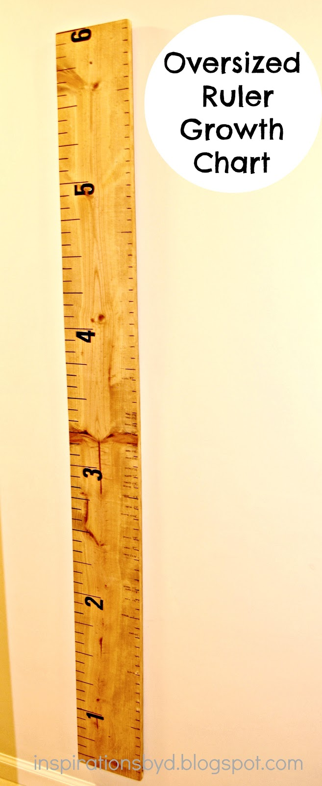 Inspirations by d oversized ruler growth chart how to make ruler growth chart nvjuhfo Gallery
