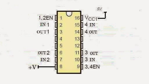 L293D IC pin out