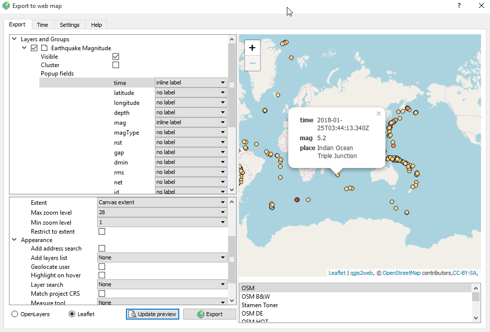 Web Mapping Tutorial in QGIS