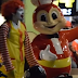 Man Wearing Ronald Mcdonald Costume Enters Jollibee