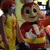 Man Wearing Ronald Mcdonald Costume Enters Jollibee