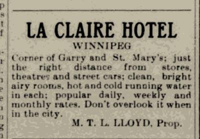 Marmaduke Thomas Lorenzo Lloyd Proprietor La Claire Hotel