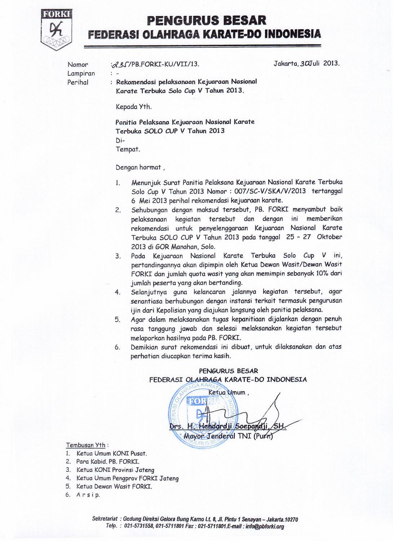 Contoh Surat Rekomendasi Organisasi Doc Suratmenyurat Net