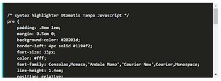 Cara Membuat Syntax Hightlighter Otomatis Diblog Tanpa Javascript