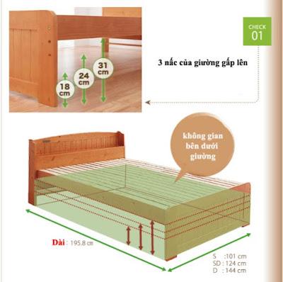 Giường gấp đa năng điều chỉnh được chiều cao GA-D21