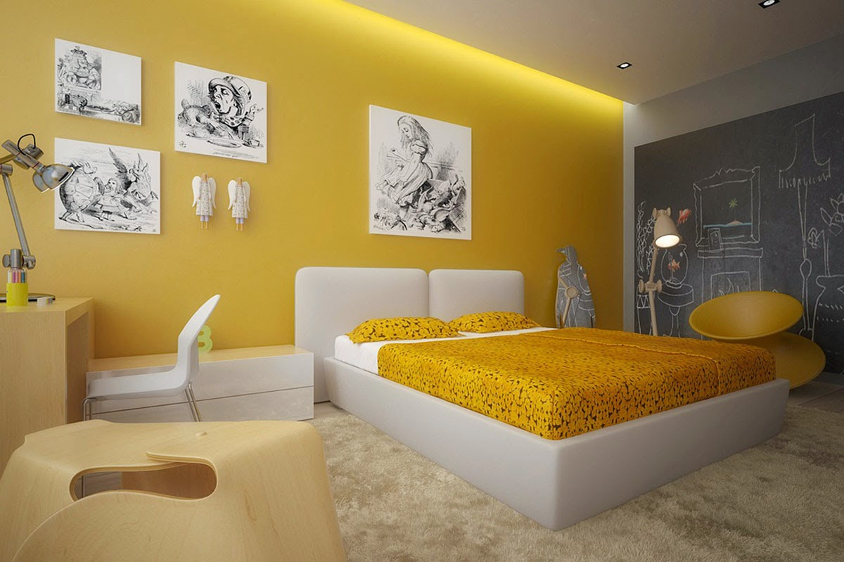 Yellow And Black Bedroom Can Also Get Smudged With Observe Lights While Emits It So You Find A Balance Theme