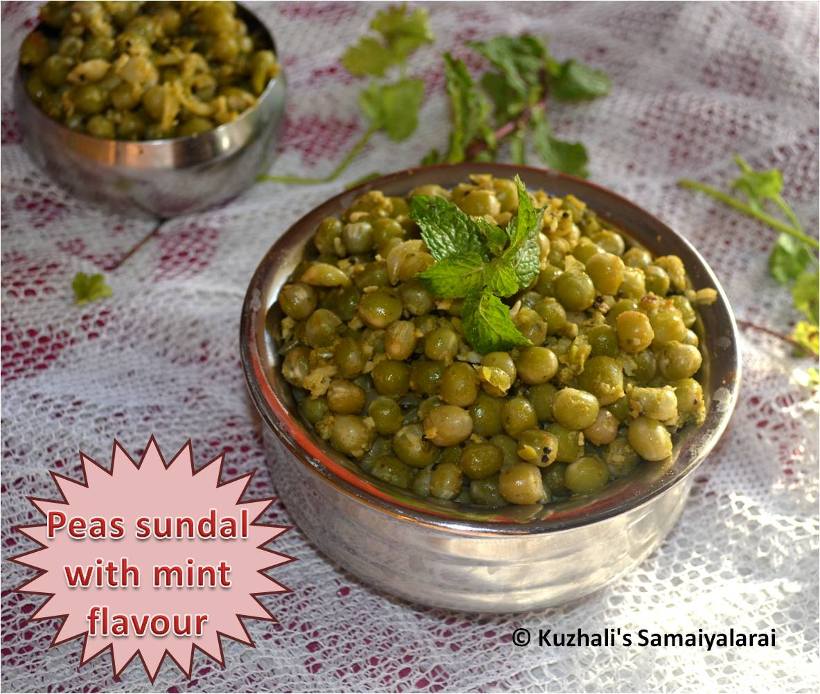 http://www.kuzhalisamaiyalarai.in/2017/09/mint-and-coriander-flavoured-peas.html