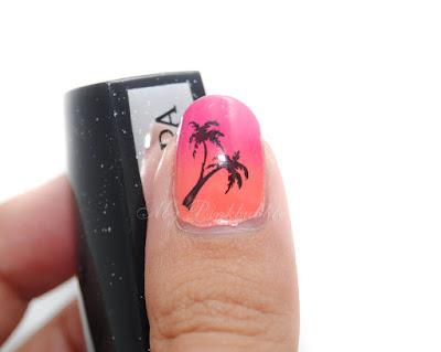 manicura verano palmera