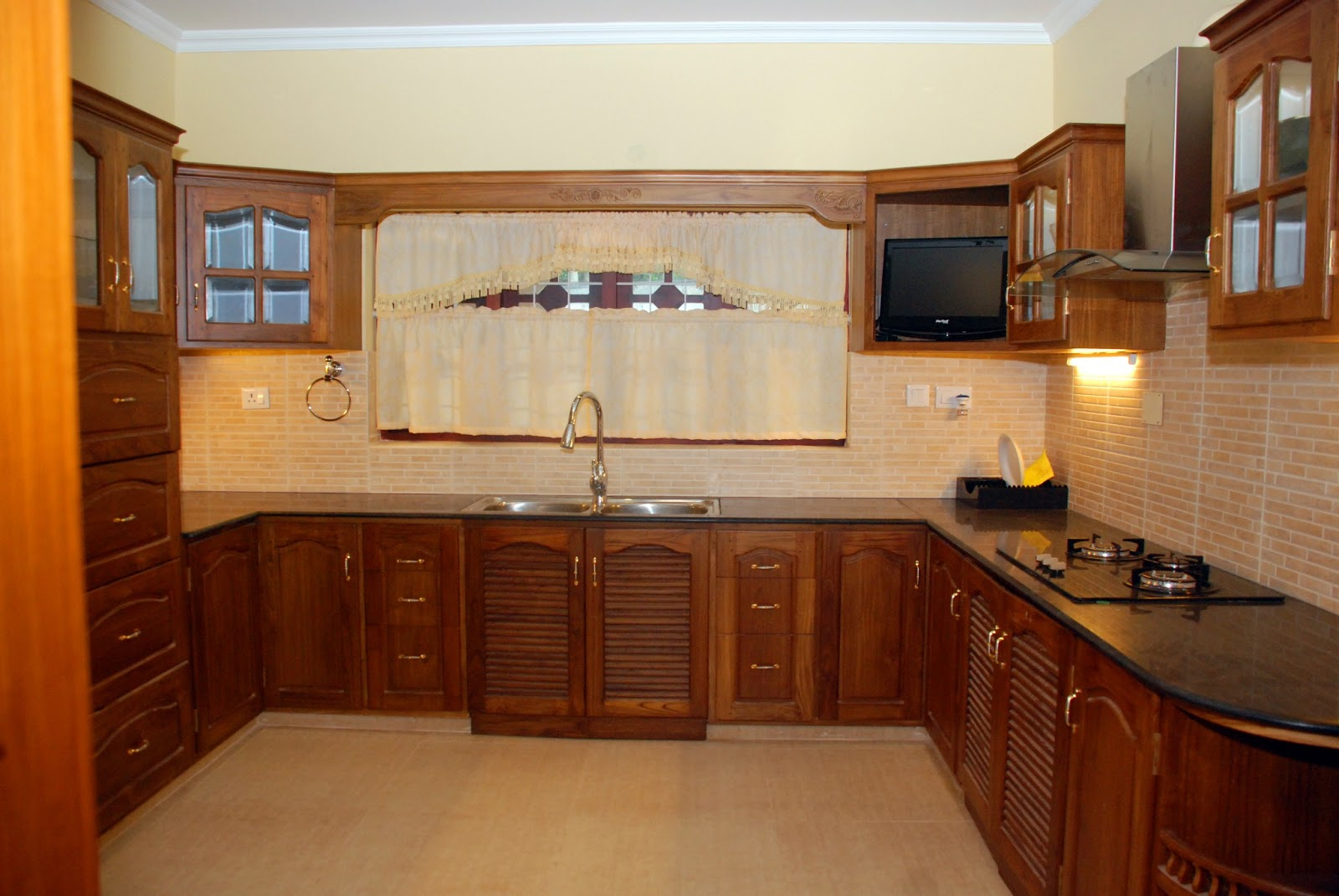 wooden kitchen cabinets in kerala kerala interior design decorations and wood works 1960