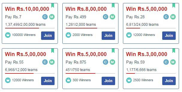 join league in dream11