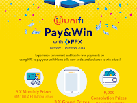 Pay your unifi Home bill with FPX & win Samsung Tab 3V worth RM500!