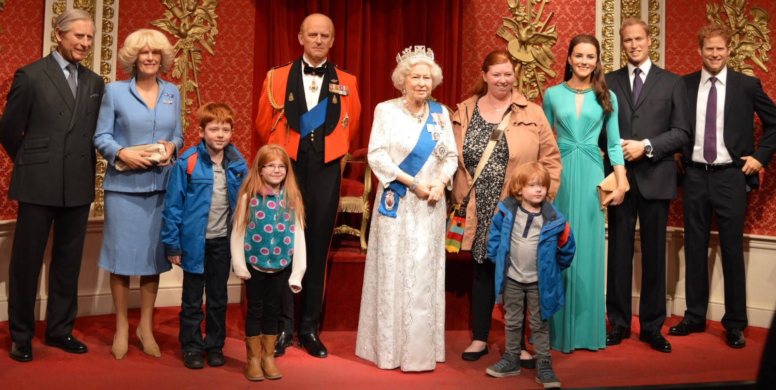 A family day trip to London with Virgin Trains East Coast - Madame Tussauds Royal Family