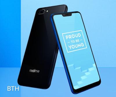 Realme C1 front & back