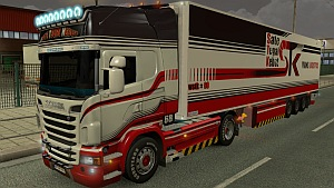 STK Scania skin + trailer