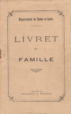 Couverture du livret de famille