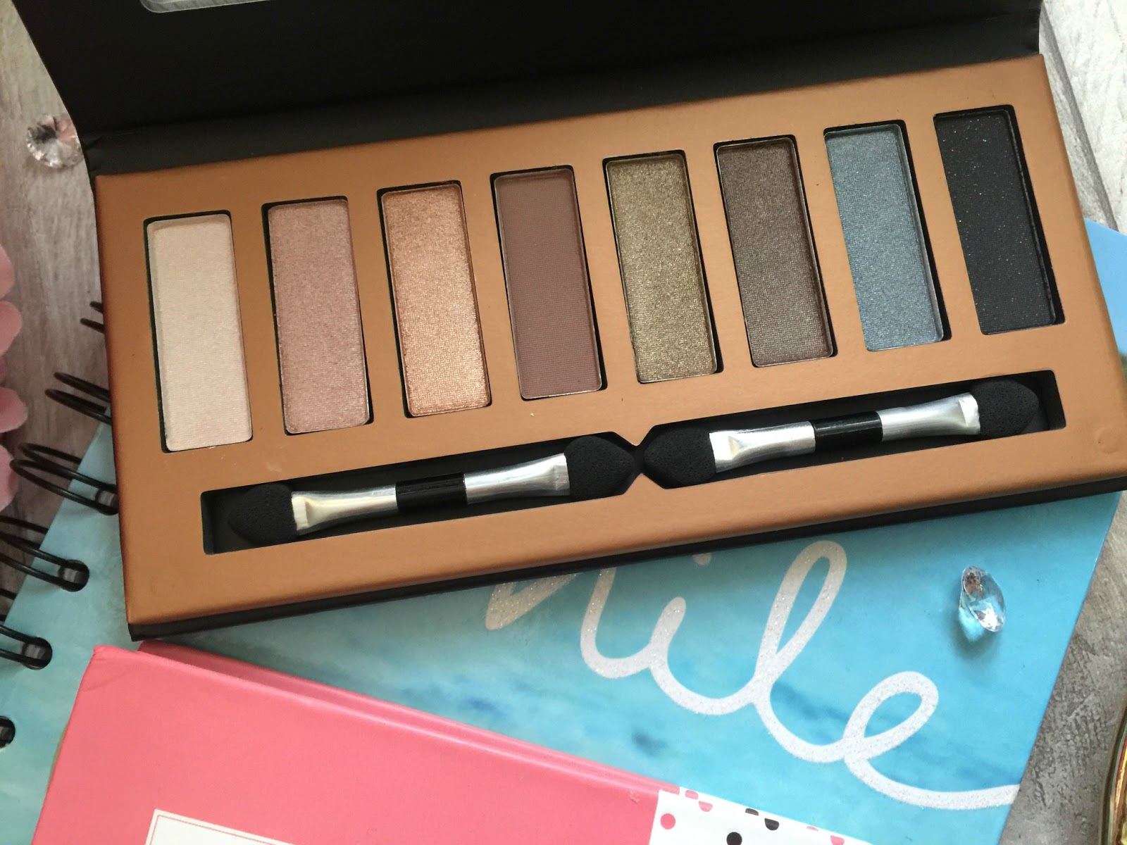 george am to pm eyeshadow palette shades