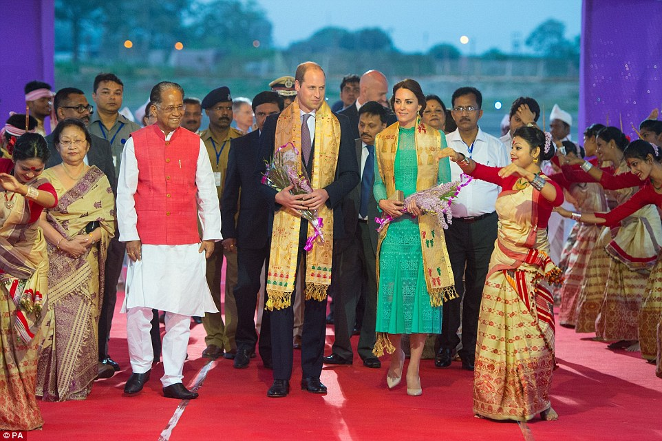 The Duke & Duchess arrived in Assam on Day 3 of their India Tour
