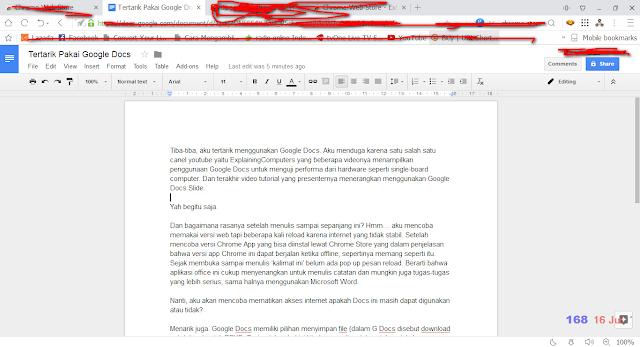 Google Docs Tampilan