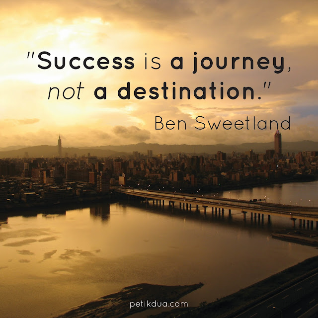 succes is a journey quotes
