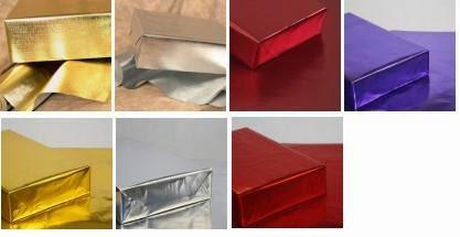 papel metalizado gofrado o liso en rollos de 70 cms x 100 metros
