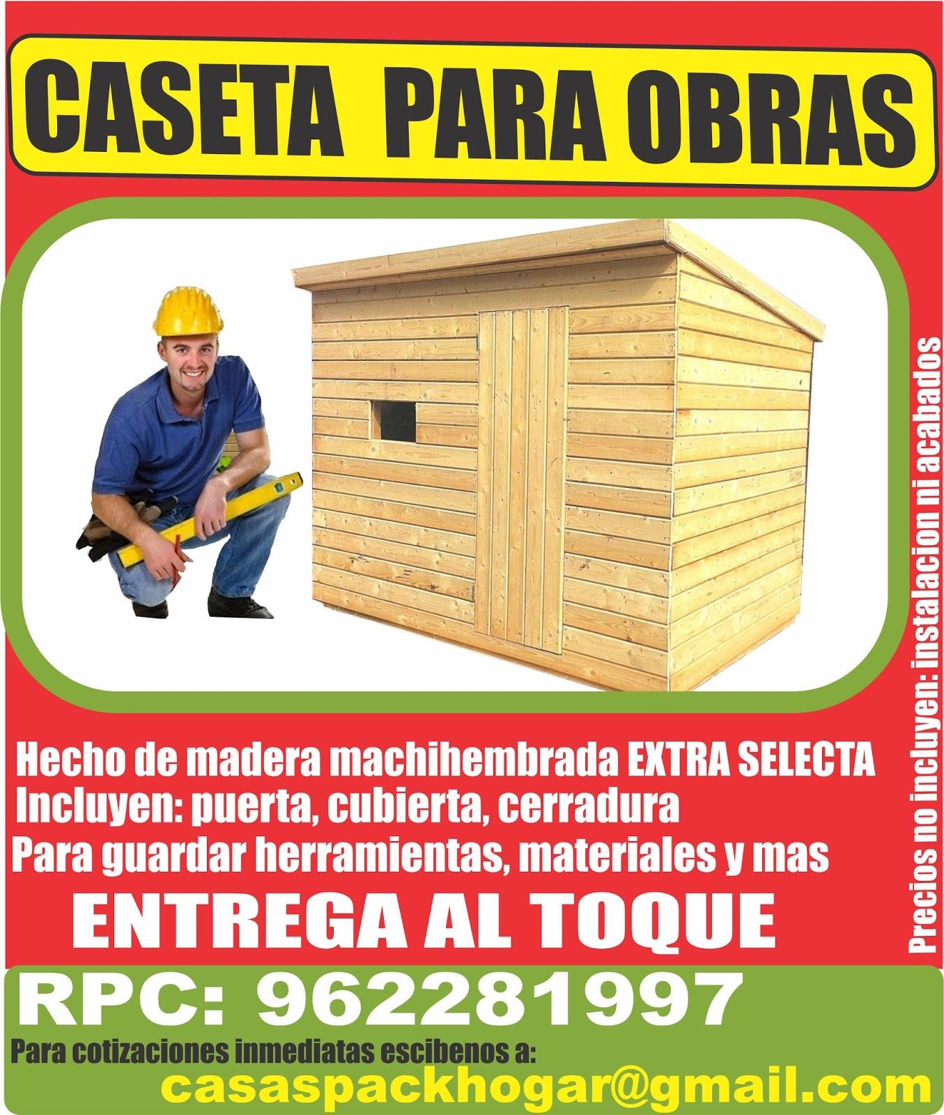 Casetas de obra para almac n for Casetas para guardar herramientas